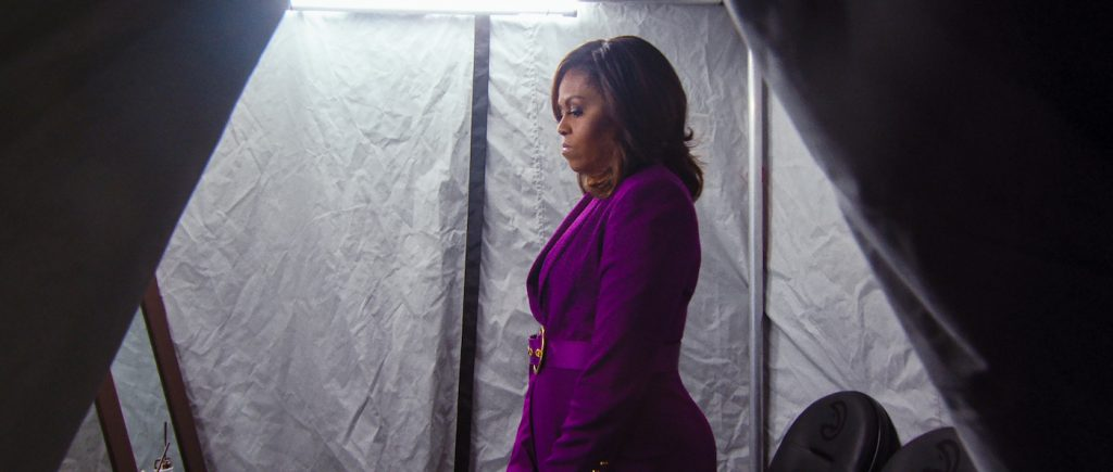 Michelle Obama in BECOMING. Cr. NETFLIX © 2020 Netflix