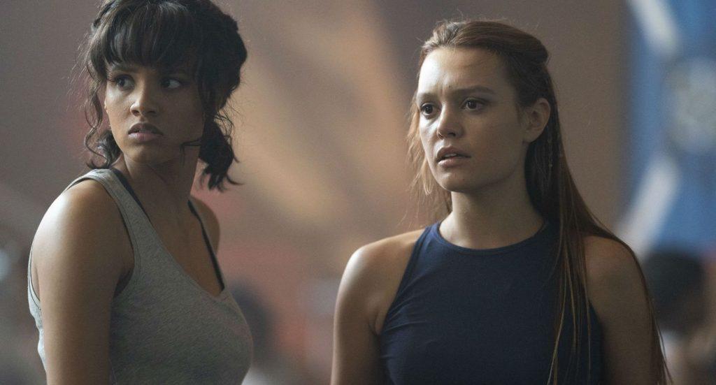 L-r: Ashley Nicole Williams, and Jessica Sutton 'Motherland: For Salem.' Courtesy Disney Freeform