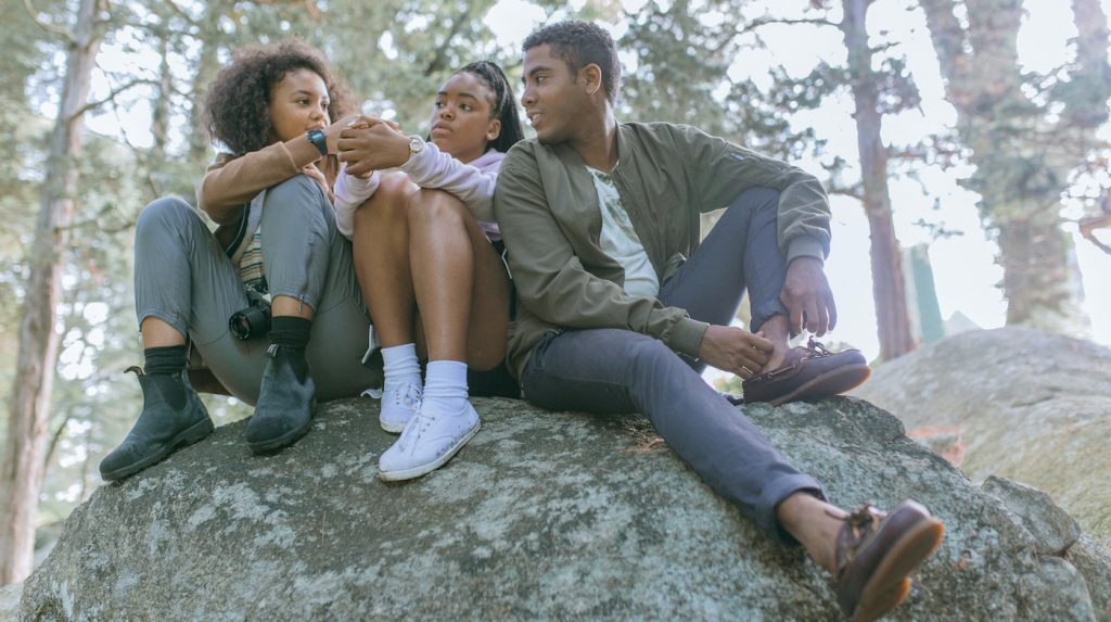 L-r: Celeste O'Connor, Lovie imone and Jharrel Jerome star in SELAH AND THE SPADES Photo: Courtesy of Amazon Studios.