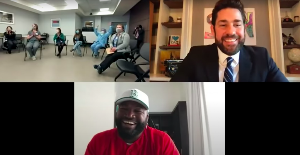 Nurses, doctors, and none other than David Ortiz himself were featured on the third episode of John Krasinski's 'Some Good News.'