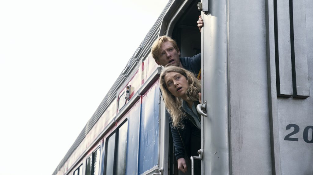 Domhnall Gleeson and Merritt Weaver in 'Run.' Photograph by Ken Woroner/HBO