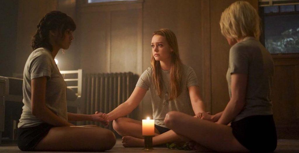 L-r: Ashley Nicole Williams, Jessica Sutton, and Taylor Hickson in 'Motherland: For Salem.' Courtesy Disney Freeform