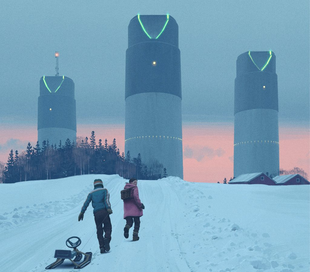 Key art of the towers from 'Tales From The Loop.' Courtesy Amazon Studios