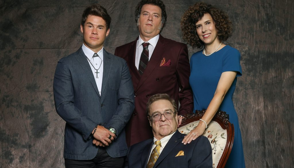 Adam Devine, Danny McBride, John Goodman and Edi Patterson. Courtesy HBO