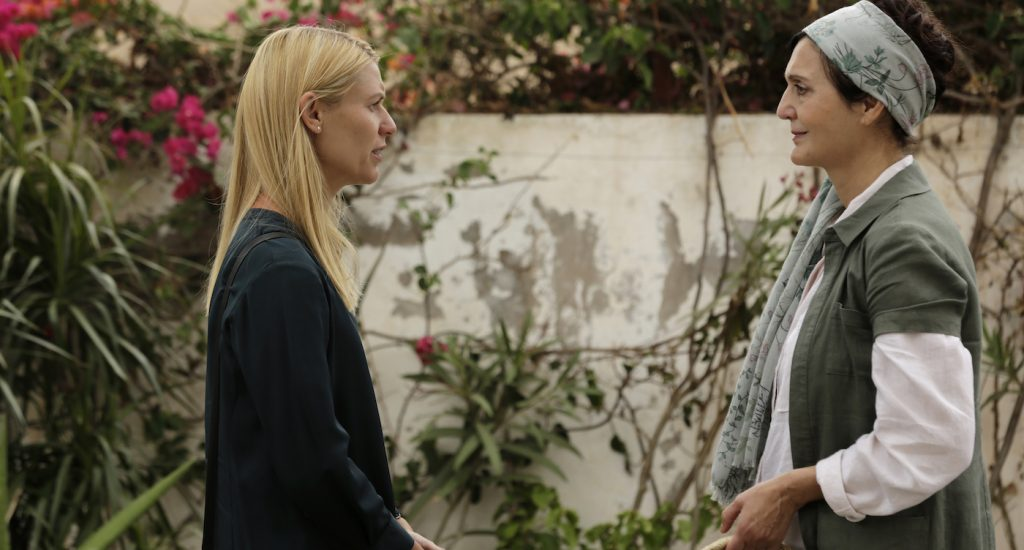 "(L-R): Claire Danes as Carrie Mathison and Jacqueline Antaramian as Dorit in HOMELAND, ""Prisoners of War"". Photo Credit: Sifeddine Elamine/SHOWTIME."