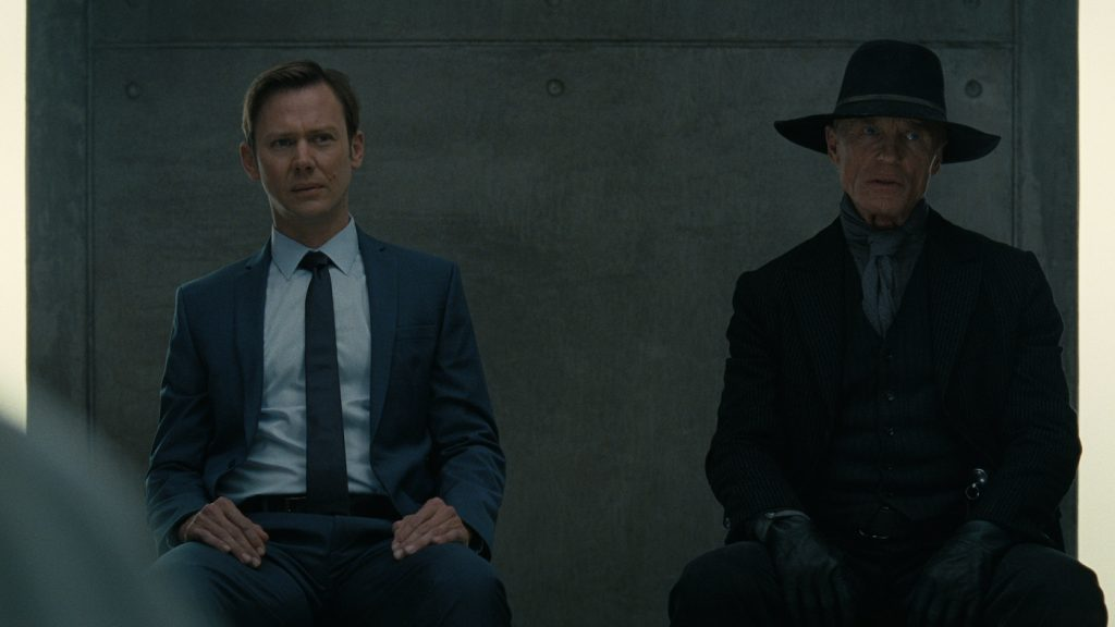 L-r: Jimmi Simpson, Ed Harris. Courtesy HBO