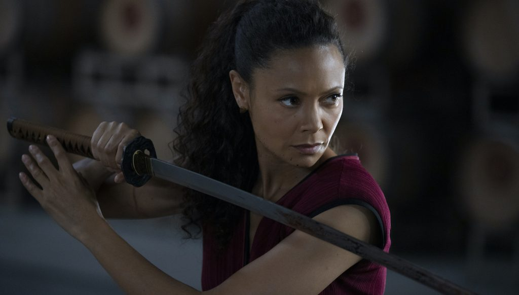 Thandie Newton is 'Maeve' in Westworld. Photograph by John P. Johnson/HBO