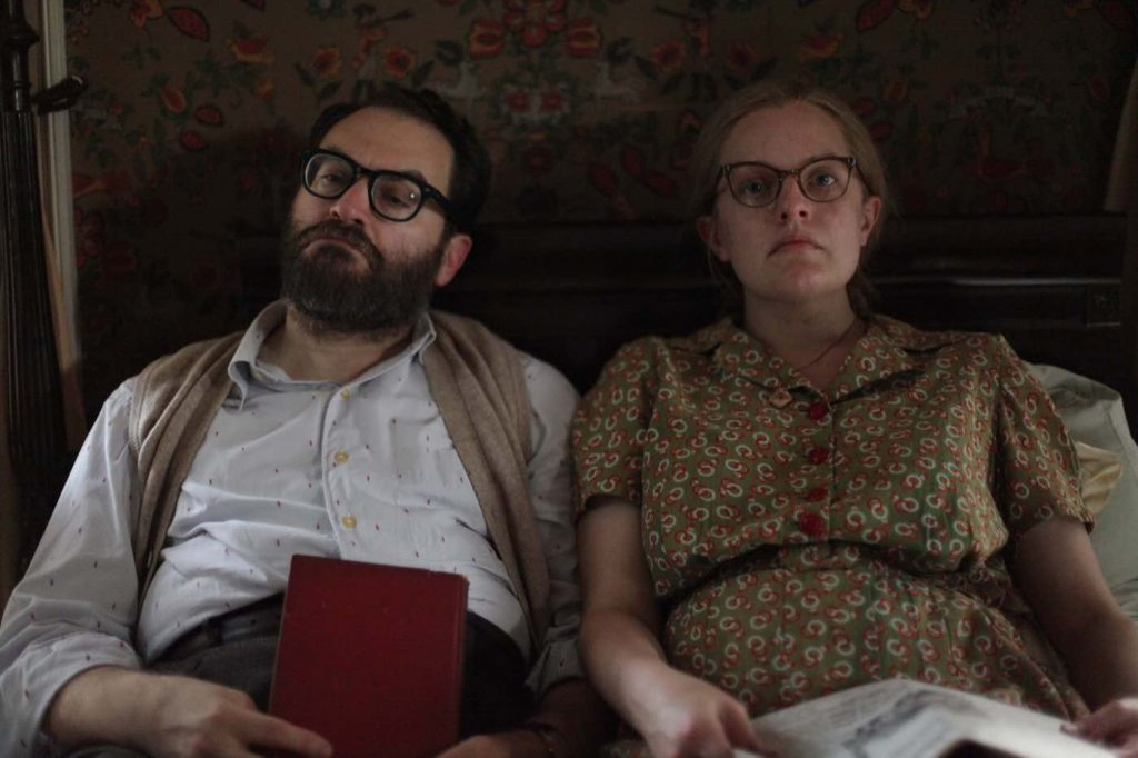 L-r: Michael Stuhlbarg is Stanley and Elisabeth Moss is Shirley in 'Shirley.' Courtesy Neon.