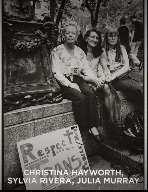 Disclosure. Christina Hayworth, Sylvia Rivera, and Julia Murray in a still in Disclosure. Cr. Ava Benjamin Shorr/Netflix.