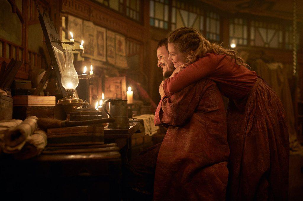 L-r: Damon Herriman and Mia Wasikowska in 'Judy & Punch.' Courtesy Samuel Goldwyn Films