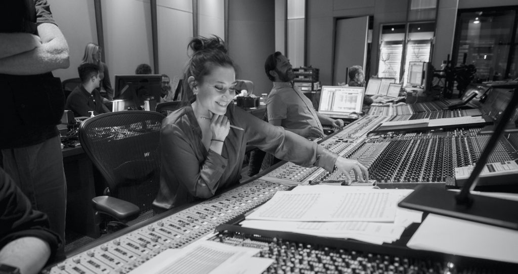 Composer Sherri Chung at work. Photo credit: Steve Earle.