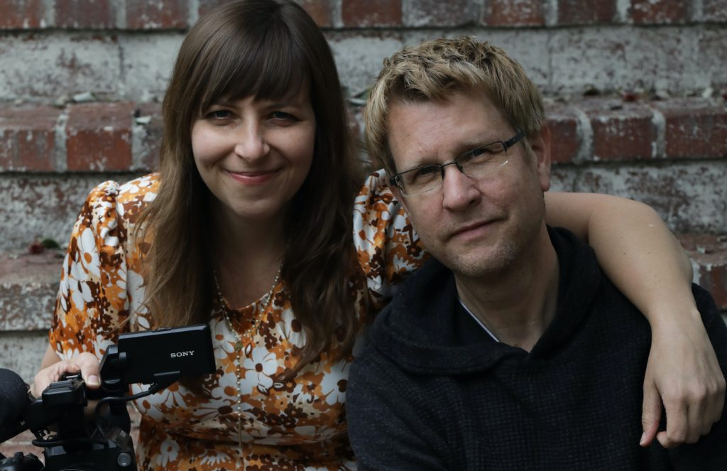 L-r: Producer Jen Gilomen and director Tom Shepard. Courtesy Open Door Productions.