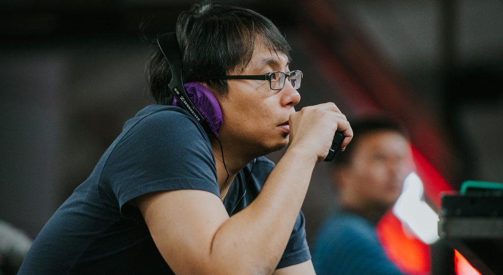 JD Chua on set of 'Circle Line.' Courtesy Juan Foo.