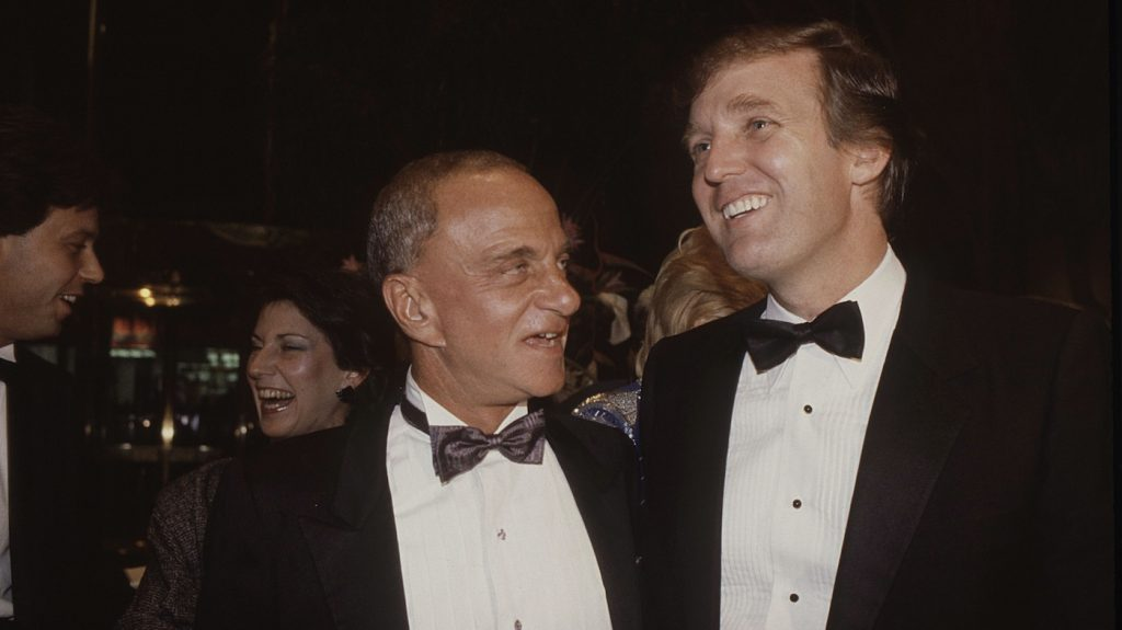 Roy Cohn and Donald Trump at the opening of Trump Tower (1983). Bully. Coward. Victim. The Story of Roy Cohn