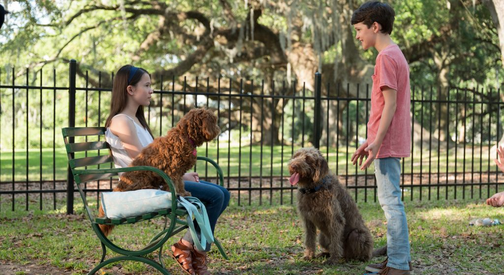 "Madison Horcher (""Sophie"", Left) and Gabriel Bateman (""Oliver"", Right) in THINK LIKE A DOG. Courtesy Lionsgate."