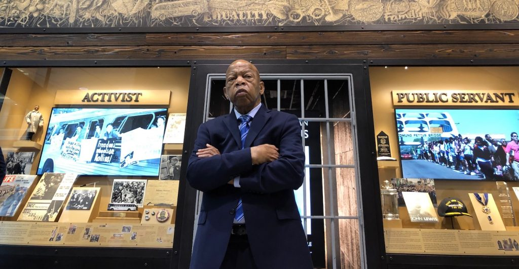 John Lewis in JOHN LEWIS: GOOD TROUBLE, a Magnolia Pictures release. Photo courtesy of Magnolia Pictures.
