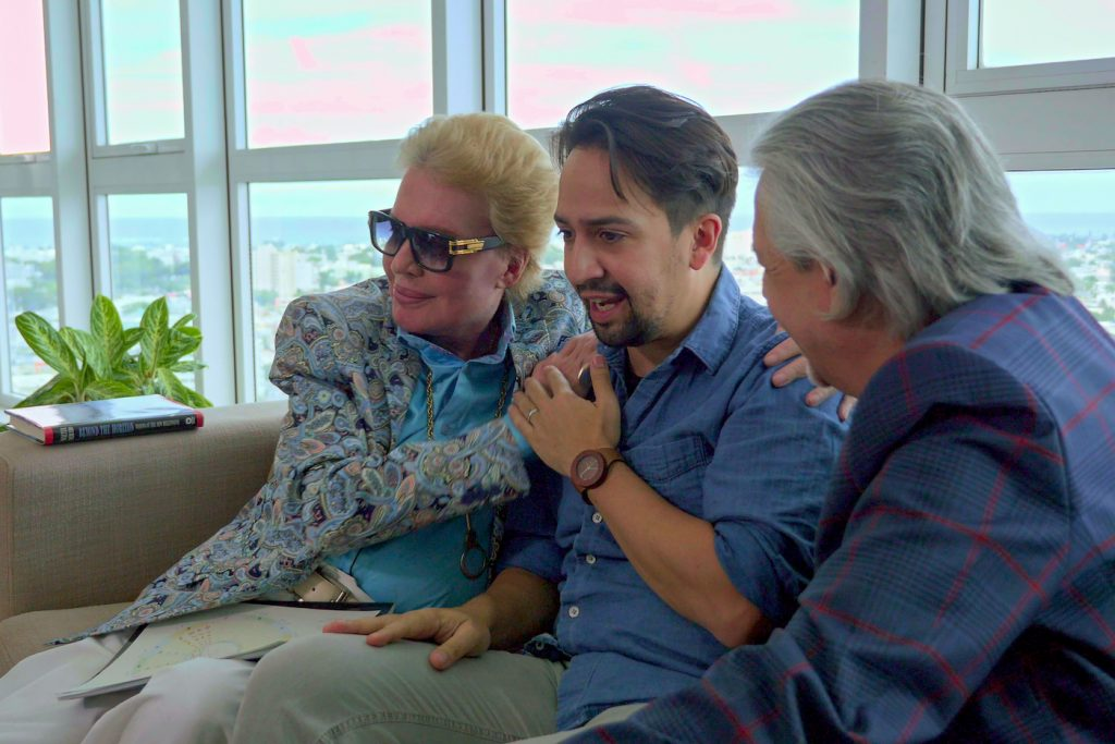 Mucho Mucho Amor: The Legend of Walter Mercado. Walter Mercado and Lin-Manuel Miranda in Mucho Mucho Amor: The Legend of Walter Mercado. Cr. Courtesy of Netflix/2020