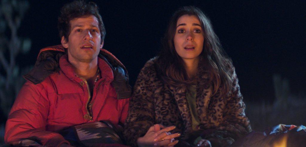 Nyles (Andy Samberg) and Sarah (Cristin Milioti), shown. (Photo by: Hulu)