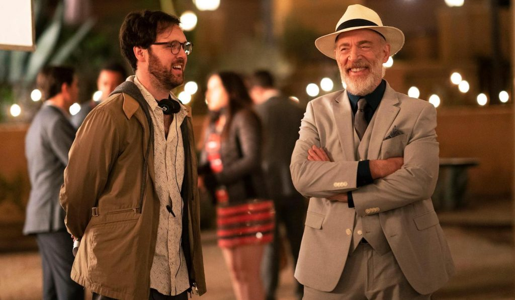 Director Max Barbakow and Roy (J.K. Simmons), shown. (Photo by: Christopher Willard/Hulu)