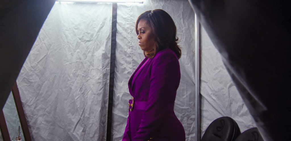 BECOMING, Michelle Obama in BECOMING. Cr. NETFLIX © 2020 Netflix