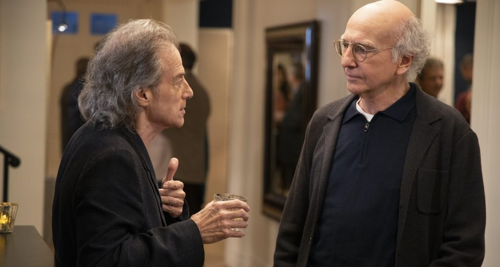 Richard Lewis and Larry David. Photograph by John P. Johnson/HBO