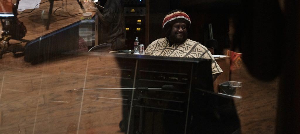 Kamasi Washington composing 'Becoming.' Courtesy Netflix.