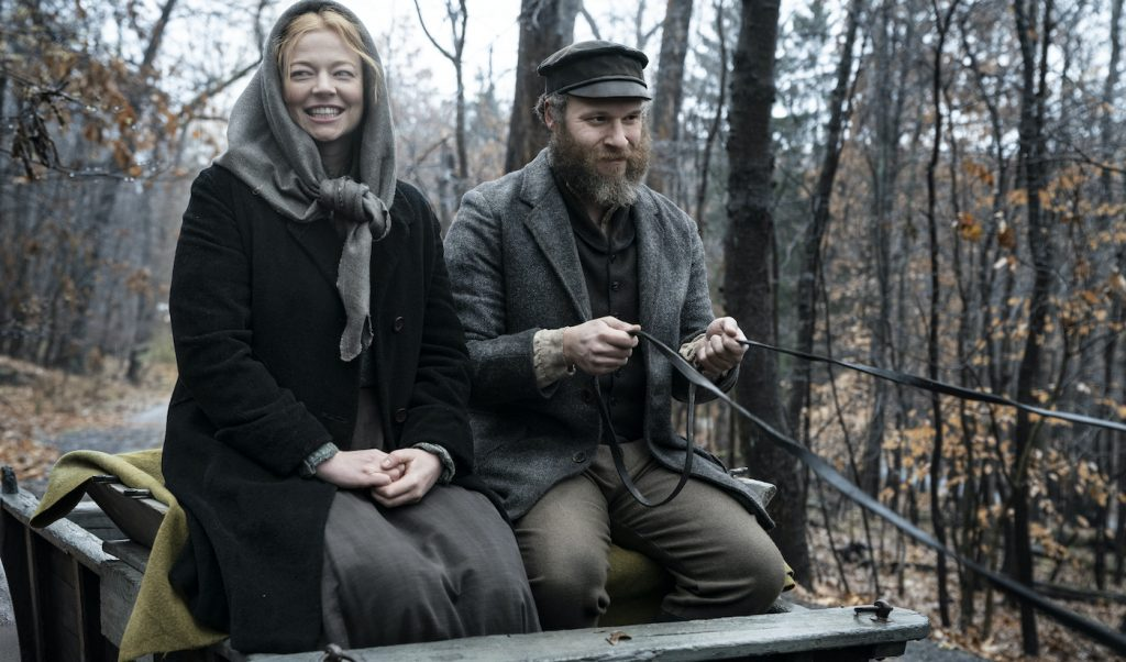 Sarah Snook, Seth Rogen Photograph by Hopper Stone