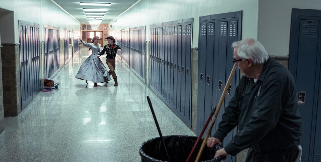 I'm Thinking of Ending Things. Guy Boyd as Janitor in I'm Thinking of Ending Things. Cr. Mary Cybulski/NETFLIX © 2020