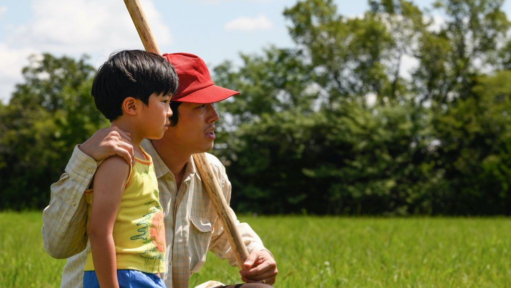 "L-r: Alan S. Kim and Steven Yeun in ""Minari."" Courtesy A24."