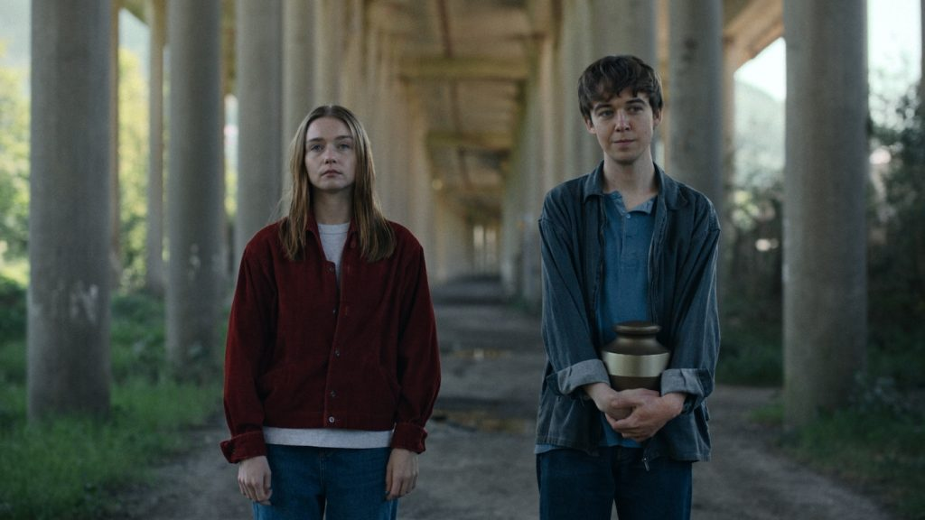Jessica Barden as Alyssa and Alex Lawther as James. Courtesy Netflix.