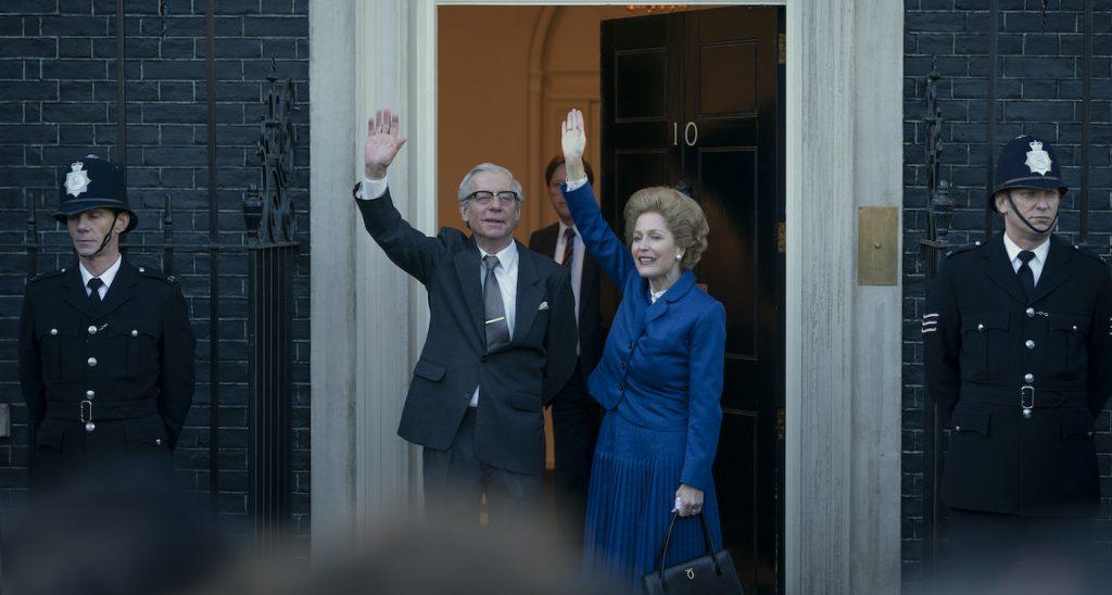 Dennis Thatcher (STEPHEN BOXER) and Margaret Thatcher (GILLIAN ANDERSON). Photo by Des Willie