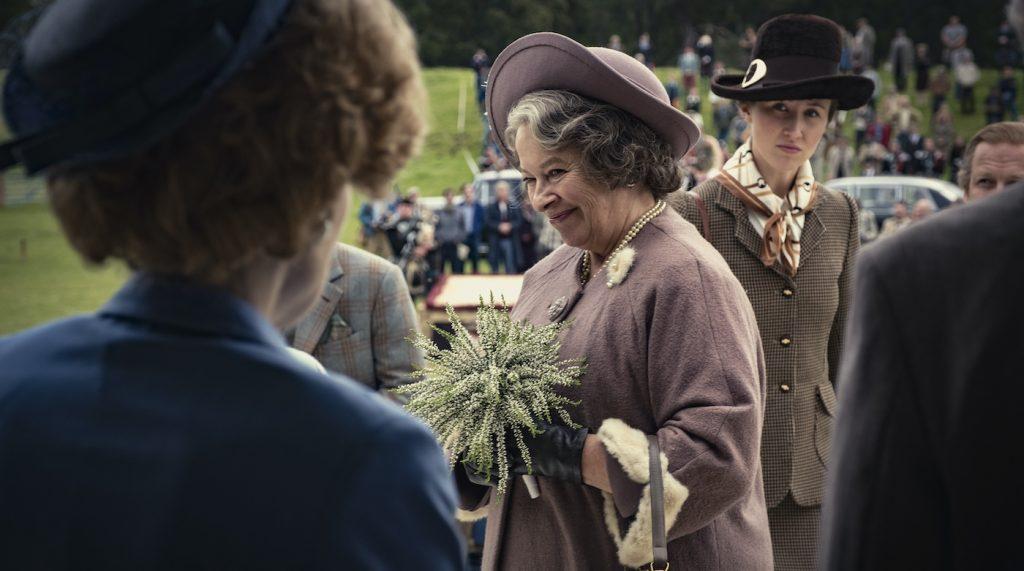 Picture shows: Queen Mother (MARION BAILEY). Photo credit: Mark Mainz/Netflix