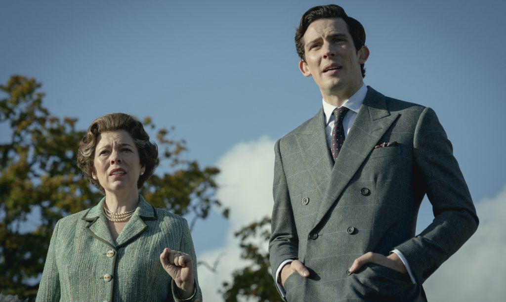 Picture shows: Queen Elizabeth II (OLIVIA COLMAN) and Prince Charles (JOSH O CONNOR). Photo by Des Willie.