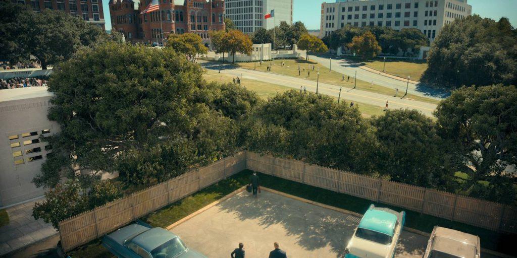 Recreating Dealy Plaza. Courtesy Netflix.