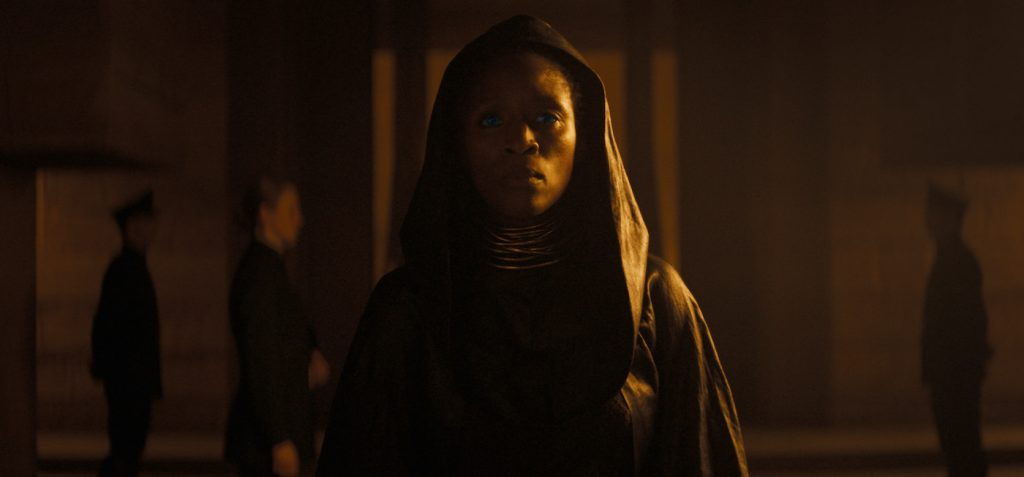 "Caption: SHARON DUNCAN-BREWSTER as Dr. Liet Kynes in Warner Bros. Pictures' and Legendary Pictures' action adventure ""DUNE,"" a Warner Bros. Pictures and Legendary release."
