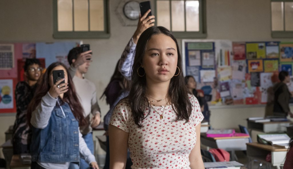 GRAND ARMY (L to R) AMALIA YOO as LEILA ZIMMER in episode 101 of GRAND ARMY. Cr. JASPER SAVAGE/NETFLIX © 2020