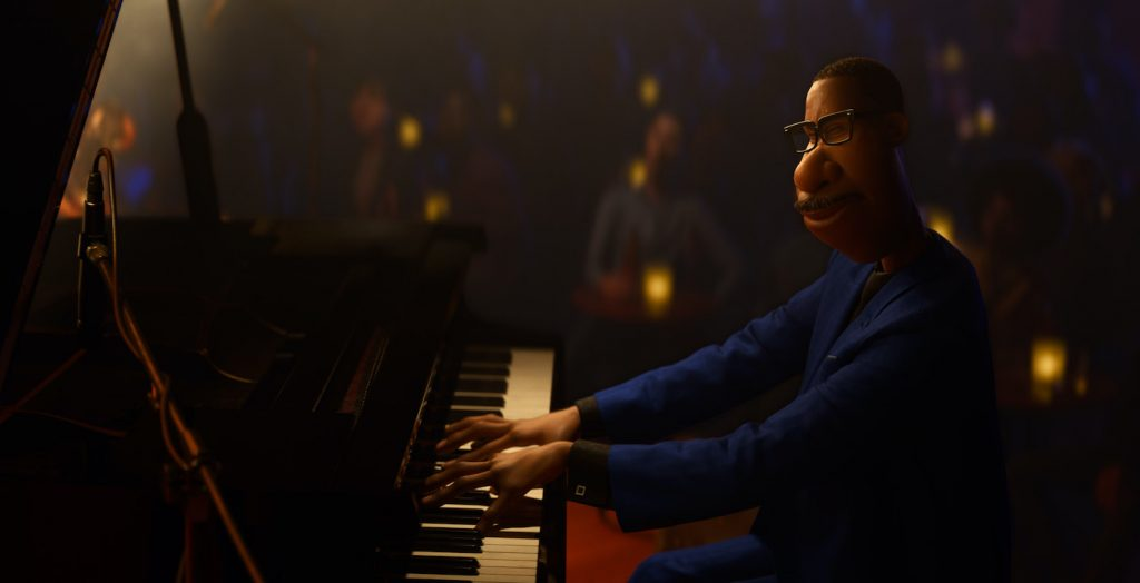 "In Disney and Pixar's ""Soul,"" Joe Gardner (voice of Jamie Foxx) is a middle-school band teacher whose true passion is playing jazz. When he gets lost in his music, he goes into"