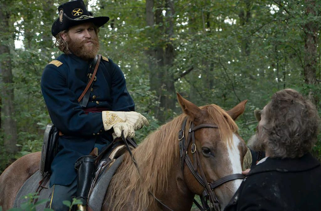 "Wyatt Russell as Jeb Stuart in THE GOOD LORD BIRD, ""Mister Fred"". Photo Credit: William Gray/SHOWTIME."