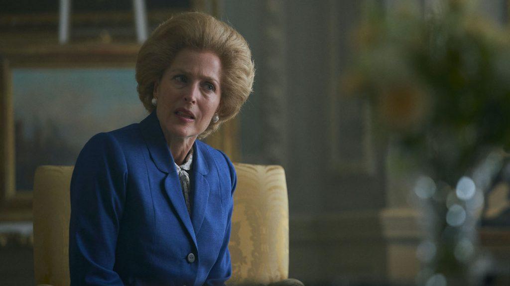 Margaret Thatcher (GILLIAN ANDERSON). Filming Location: Wrotham Park. Photo: Des Willie/Netflix.
