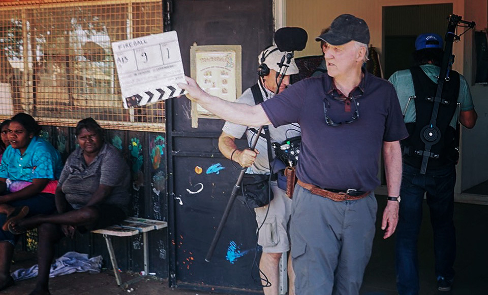 "Werner Herzog behind the scenes of ""Fireball: Visitors From Darker Worlds,"" premiering globally on Apple TV+ on November 13."