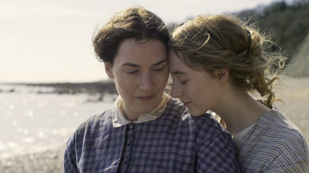 Kate Winslet and TK in 'Ammonite.' photograph by Agatha A. Nitecka/RÅN studio
