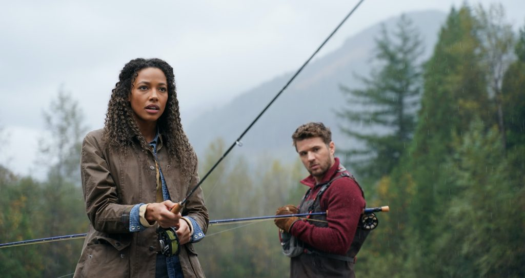 "KYLIE BUNBURY and RYAN PHILLIPPE in ""Big Sky."" (ABC/Darko Sikman)"