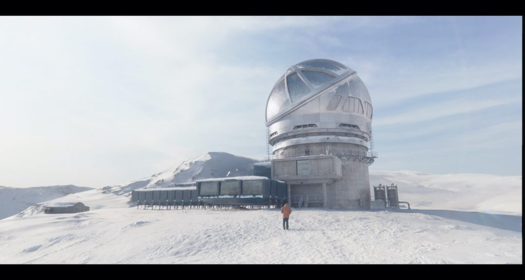 The Barbeau observatory after VFX did their work. Courtesy Netflix.