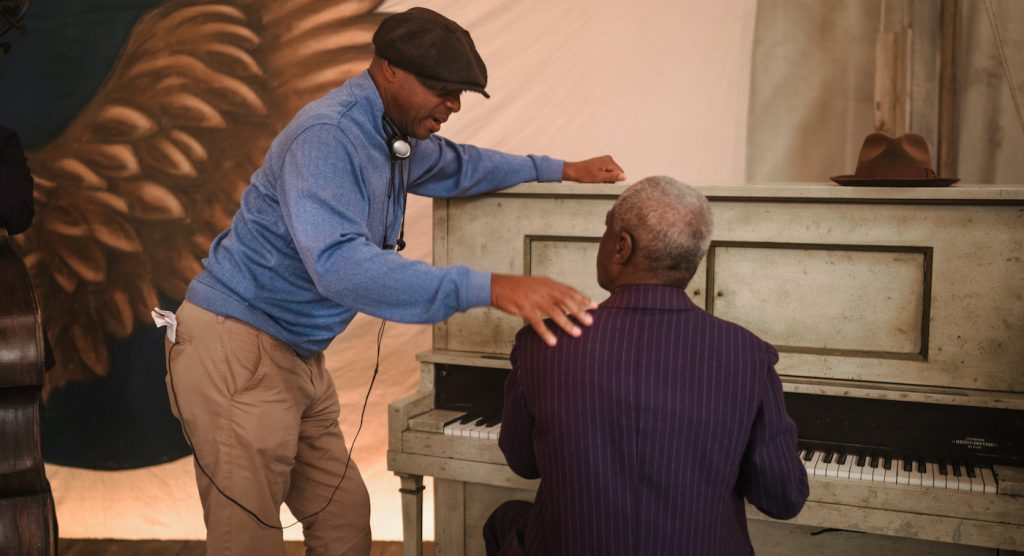 MA RAINEY'S BLACK BOTTOM (2020) Branford Marsalis and Glynn Turman.  Cr: David Lee/NETFLIX