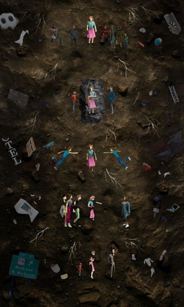 Murder on Middle Beach. Mock Up Painting. Courtesy Thomas Doyle/HBO.