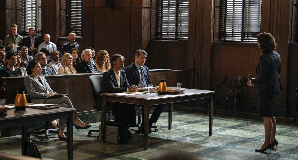 Courtroom set at Kaufman Astoria Studios (Niko Tavernise/HBO)