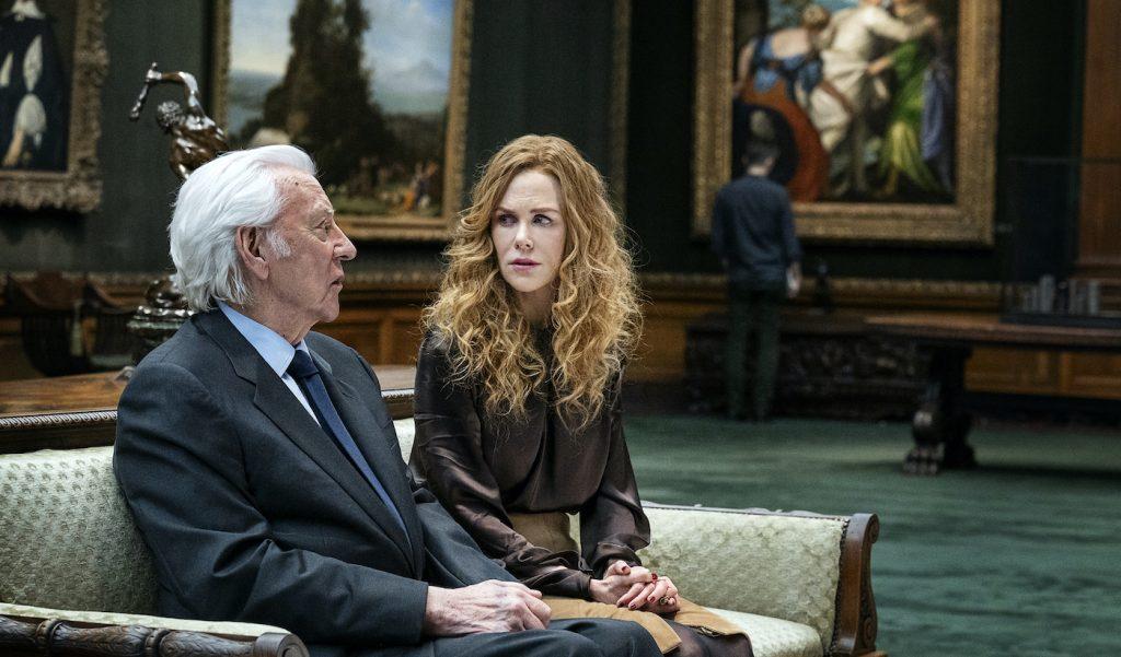 Donald Sutherland, Nicole Kidman. Photograph by David Giesbrecht/HBO