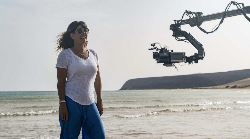 "Caption: Director PATTY JENKINS on the set of Warner Bros. Pictures' action adventure ""WONDER WOMAN 1984,"" a Warner Bros. Pictures release. Photo Credit: Clay Enos/ ™ & © DC Comics"