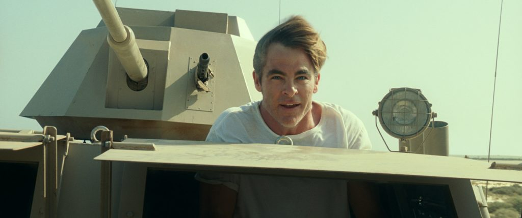 "Caption: CHRIS PINE as Steve Trevor in Warner Bros. Pictures' action adventure ""WONDER WOMAN 1984,"" a Warner Bros. Pictures release. Photo Credit: Courtesy of Warner Bros. Pictures/ ™ & © DC Comics"
