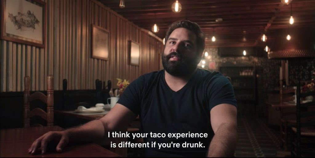 One of the easier portions to subtitle. 'Taco Chronciles' season 1. Courtesy Netflix.